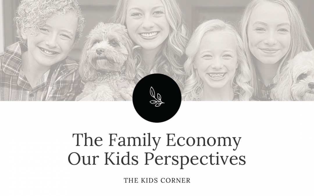 The Family Economy – Our Kids Perspectives